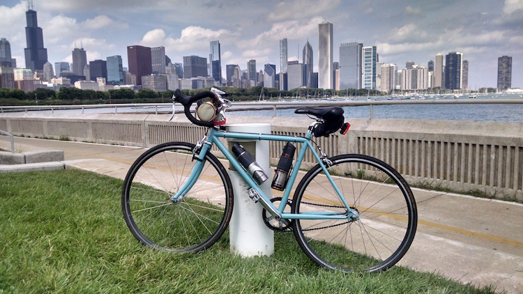 Bike on the Lakefront Trail next to the Shedd Aquarium.