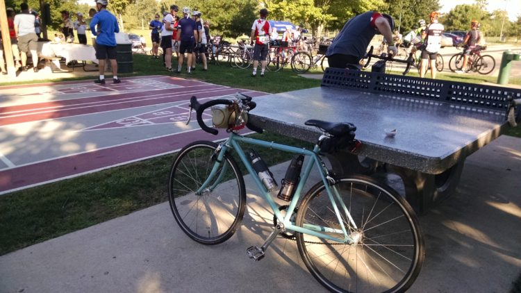 bike at rest stop